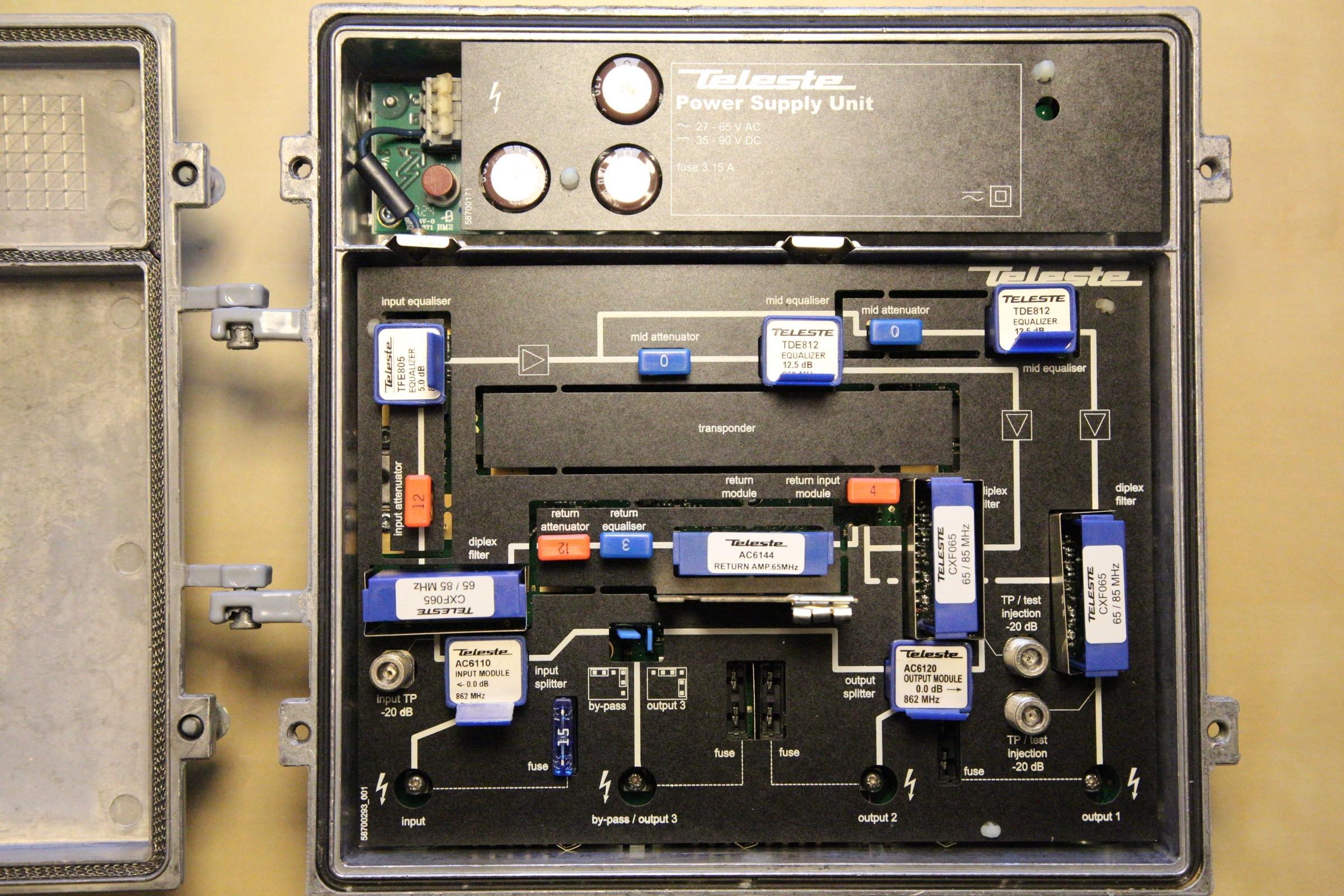 Cable TV dropbox Teleste AC2000