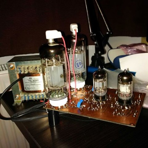 50W 6P45S monoblock tube amplifier schematic
