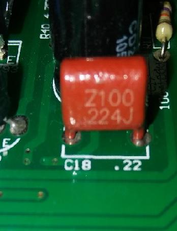 Z100 224J red capacitor