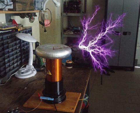 tesla coil sparks drsstc