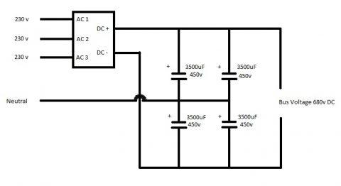3 Phase voltage doubler