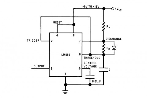 555 Audio modulated flyback schematic