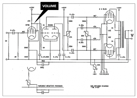 2x30W EL34 tube amplifier schematic