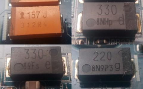 157J 330 220 black smd capacitor