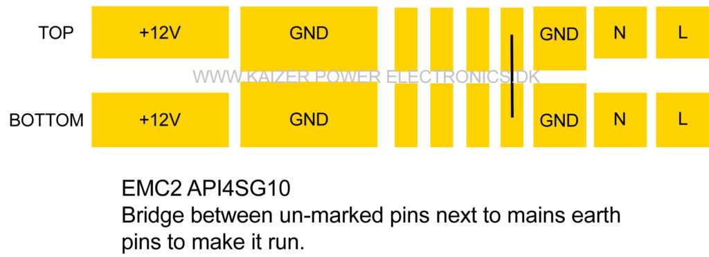 DELL EMC2 API4SG10 PSU pinout