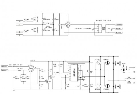 tesla coil 555 driver audio schematic