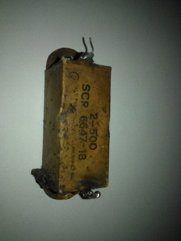 2-500 SCR 6647-18 old capacitor