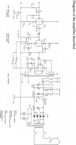2W UCL82 SE tube amplifier schematic