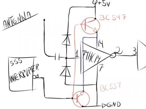74HC14 schematic