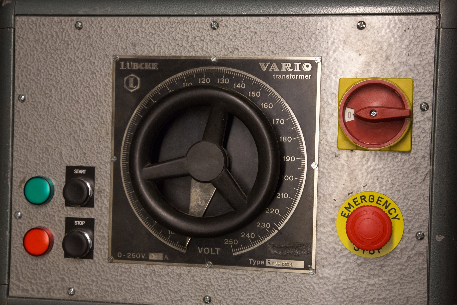 3 phase 13A Lübcke variac
