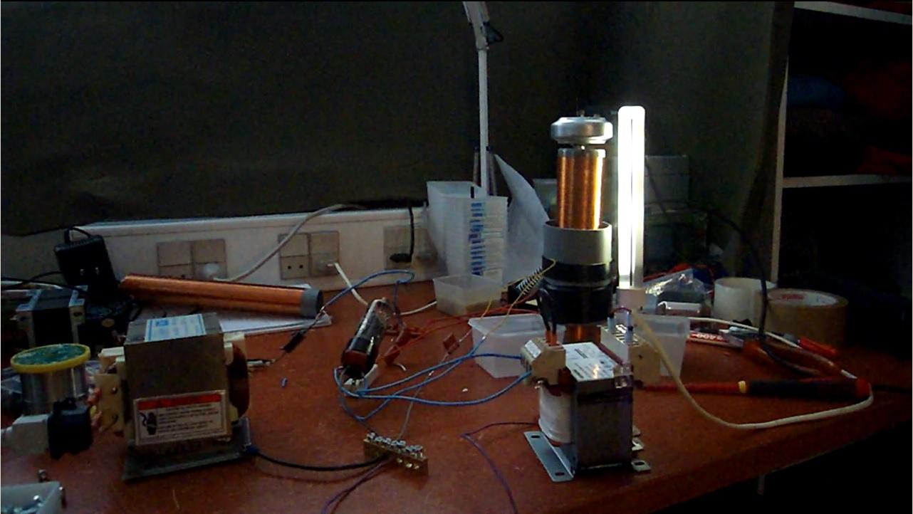 tesla coil tube vacuum pl36 vttc setup