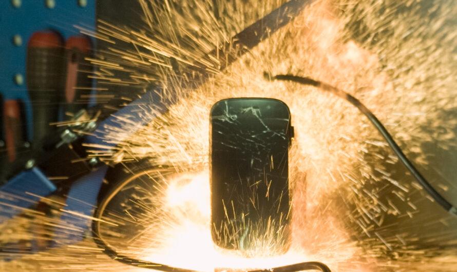 Samsung Galaxy Google Nexus Explodes in Slow Motion 1000fps
