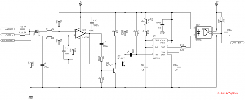 SSTC and DRSSTC musical modulator schematic
