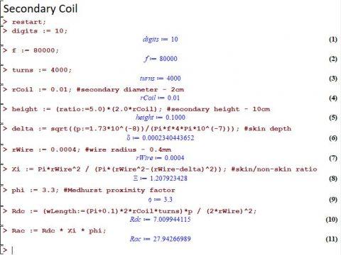 secondary Coil tesla
