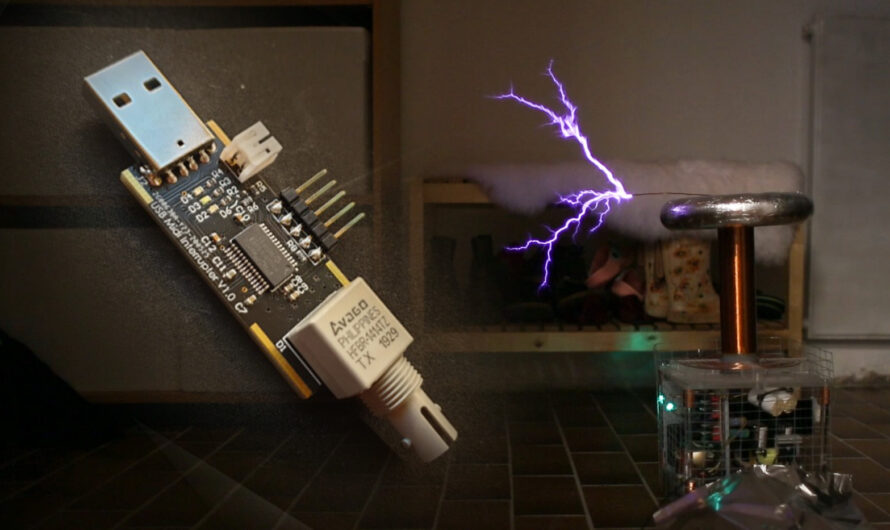 Musical Tesla Coil with Tmax USB MIDI Stick