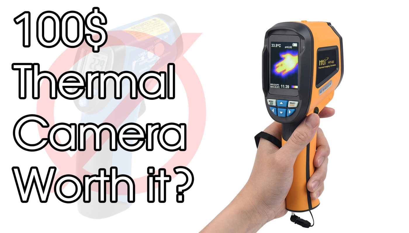 100$ Thermal Camera With 32x32 Pixel. HTi HT-02D Unboxing And Test