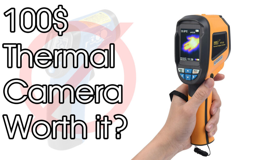 100$ Thermal Camera With 32×32 Pixel. HTi HT-02D Unboxing And Test